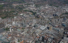 Manchester High Level View Royal Exchange Arndale Centre St Ann's Square MEN Arena Cheetham Hill