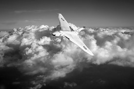 Avro Vulcan B1 strategic bomber B&W version