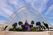 The Umbracle Santiago Calatrava City of the Arts and Sciences Valencia Spain