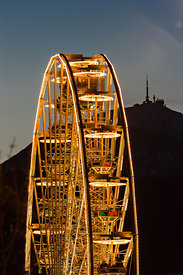 Big wheel and Puy de Dôme, Clermont Ferrand