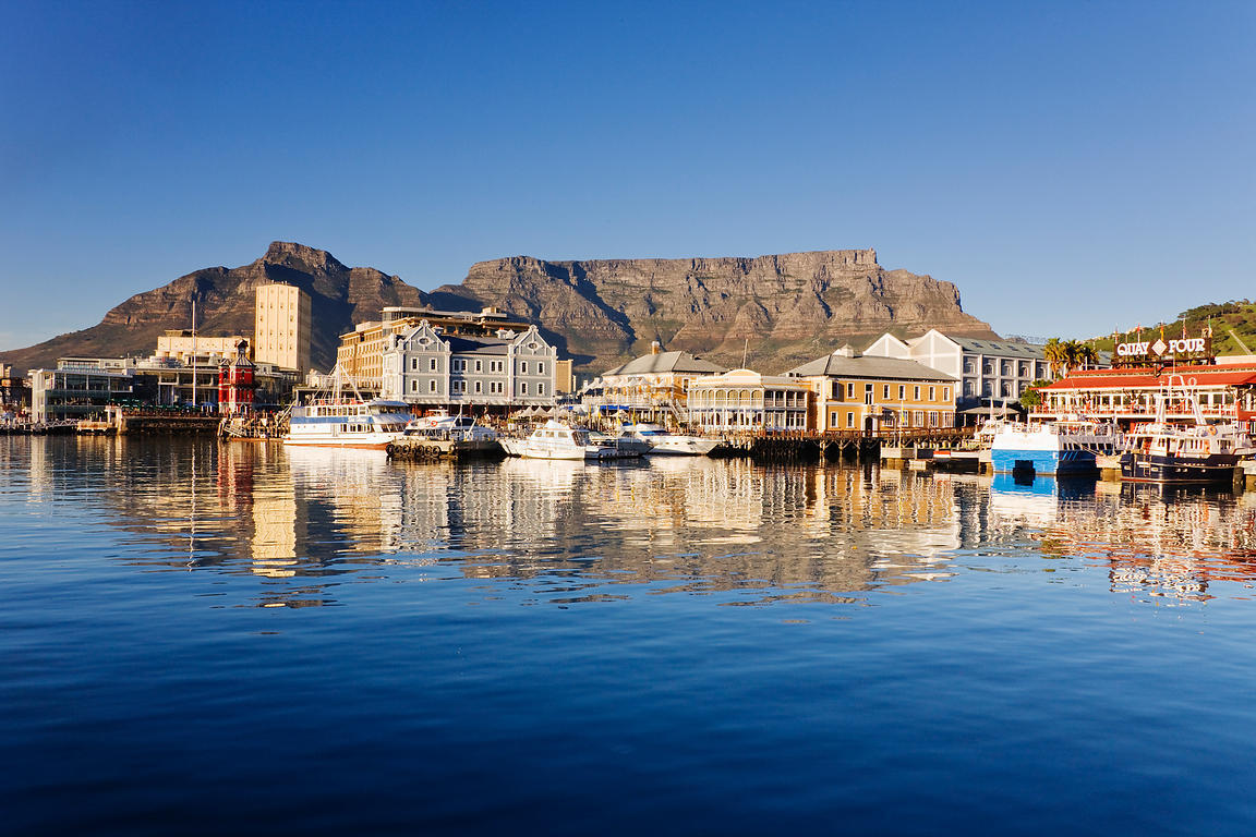 Victoria and Albert Waterfront at Dawn Cape Town Western Cape South Africa