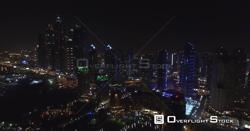 Dubai at Night UAE Drone Footage