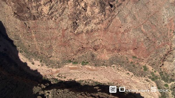 Tilted, spinning aerial view of Echo Cliffs in Arizona