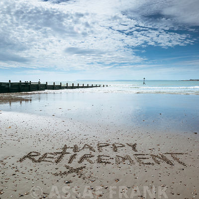 Word Happy Refreshment written on beach sand