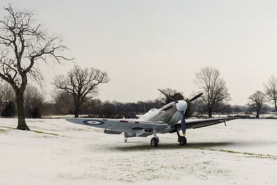 Spitfire in the snow