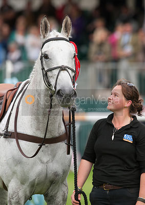 Avebury and Andrew Nicholson's groom - prizegiving ceremony - Land Rover Burghley Horse Trials 2012.