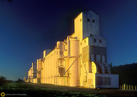 Rice Silo at Sunrise