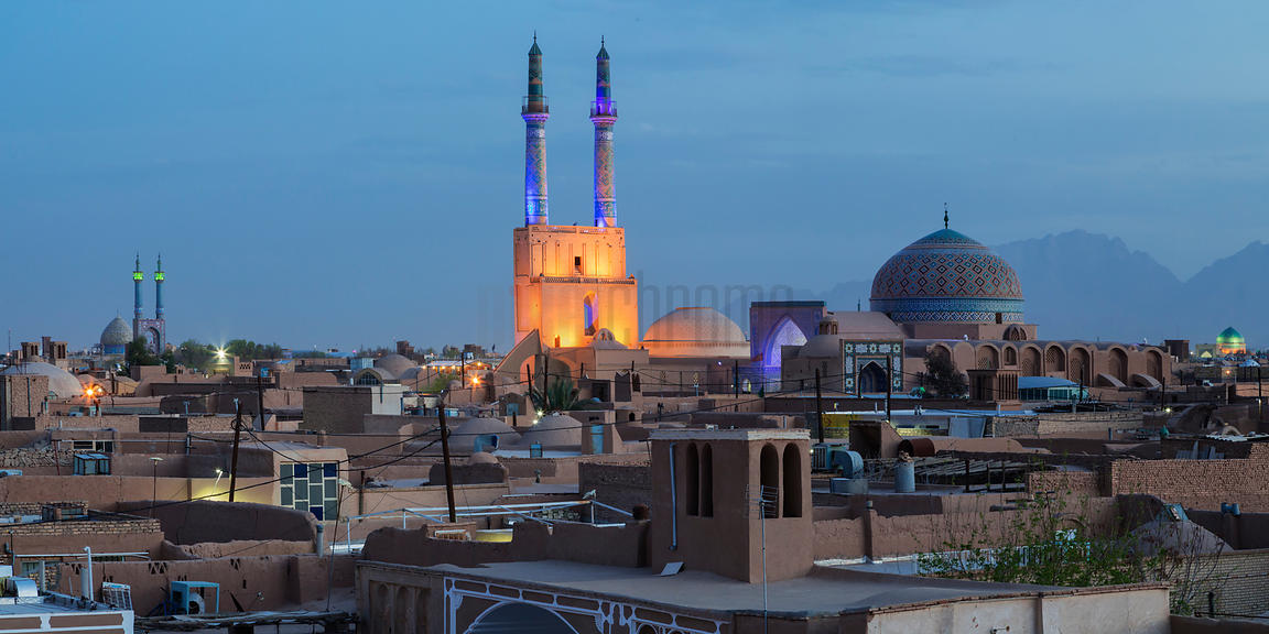 Jameh Mosque and Skyline of Yazd