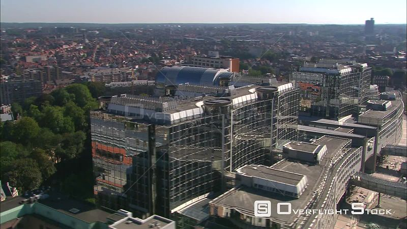 Orbiting the European Parliament Building in Brussels