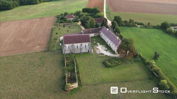 Commanderie d'Avalleur  Champagne Region  Old Knights Templar commanderie near Bar sur Seine France Drone Video