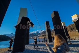 HEINZ MACK THE SKY OVER NINE COLUMNS TRAVELS TO ST. MORITZ