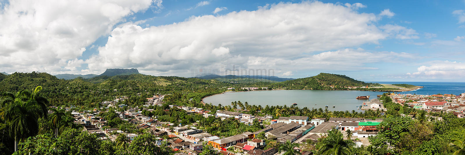 Elevated View of Baracoa and El Yunque