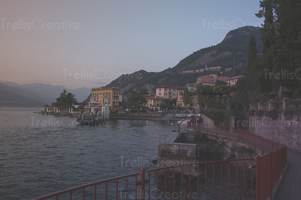 Seaside port in Verenna, Italy
