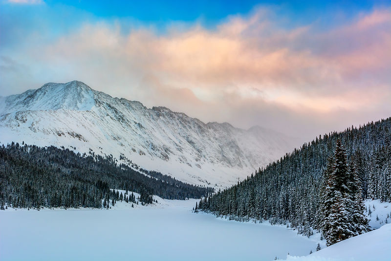 Clinton Gulch Winter Sunset