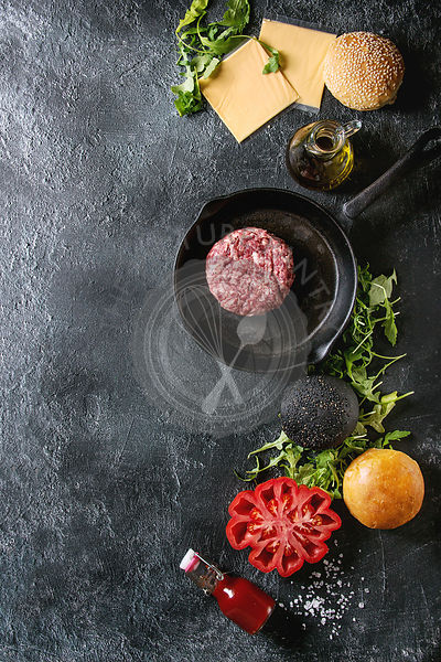 Ingredients for burger