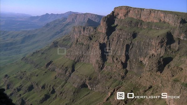 Aerial over a beautiful mountainous landscapes Sabie. Mpumalanga South Africa