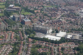 Stockport and Reddish aerial photograph of Broadstone Mill and Houldsworth Mill shopping centres