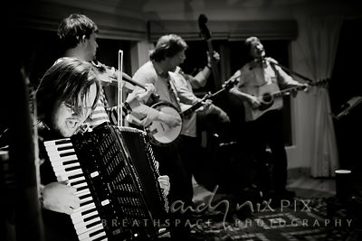 Cape Town folk band Blacksmith's magical acoustic performance organised by Caroline Blundell.
