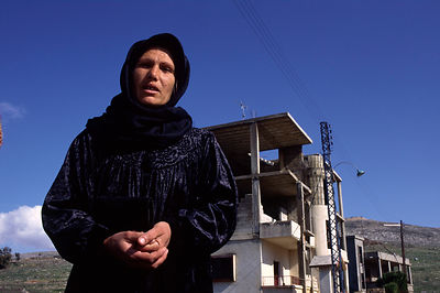 Mrs Bdair who lost three children due to Isreali shelling