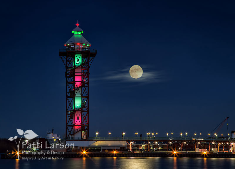 Christmas Eve Full Moon Over Dobbins Landing