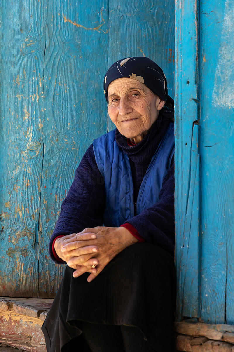 Portrait oif a Woman on the Doorstep of her Home