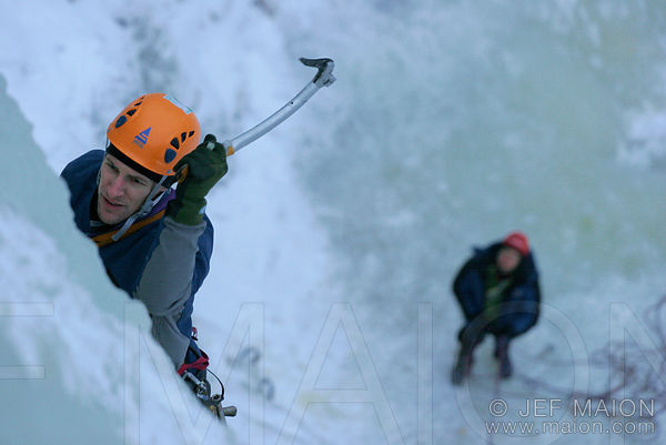 Ice climbing in Finland