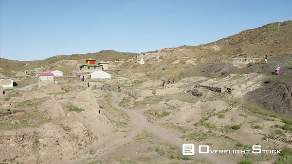 Drone Video Ruins and Temple South Gobi Mongolia