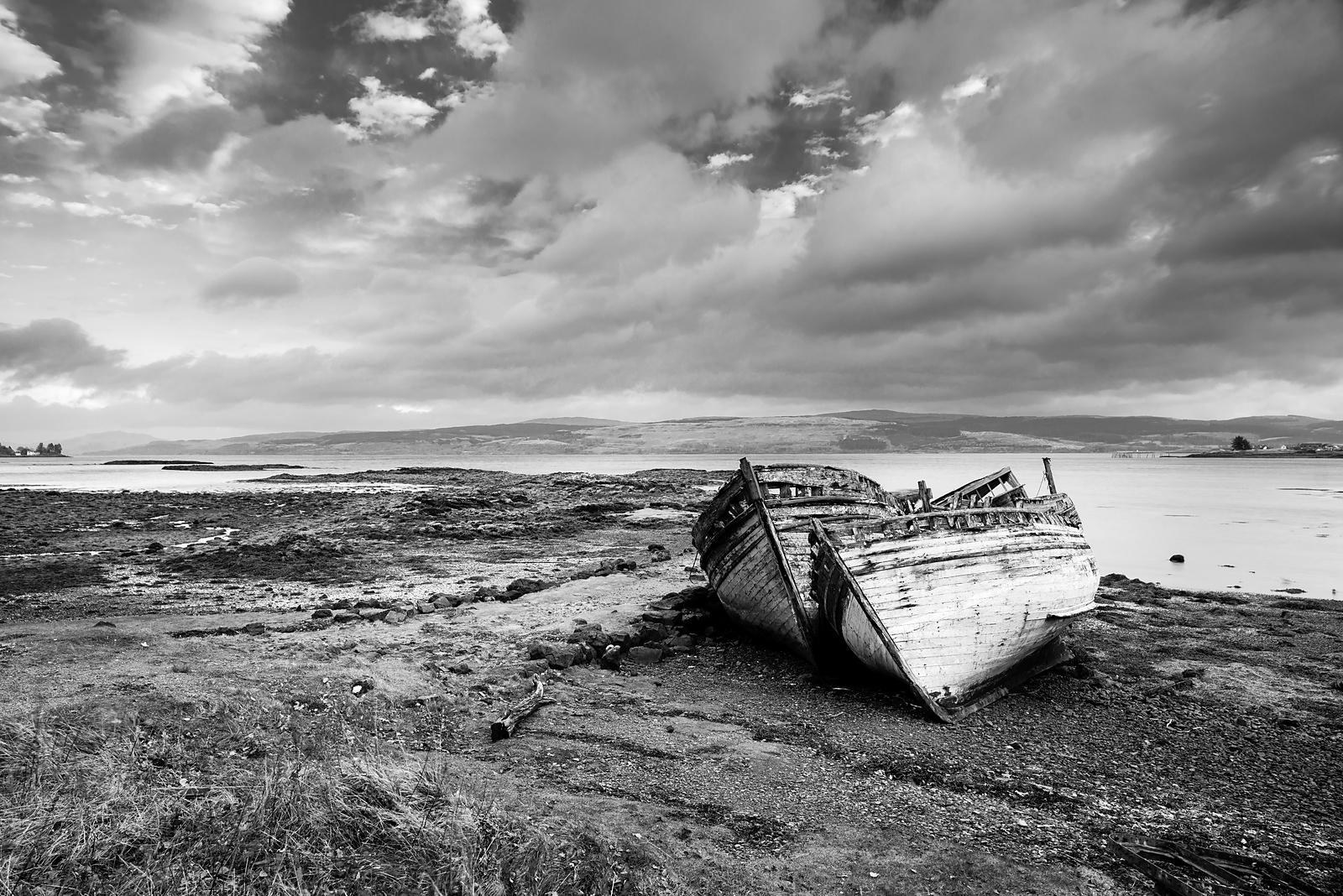 Abandone boats at Salen on Isle of Mull