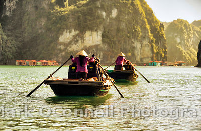 Rowing through Halong Bay Vietnam 5
