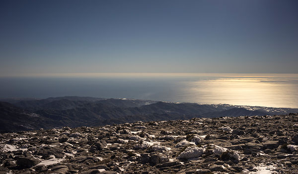 The Mediterranean from the summit of La Maroma