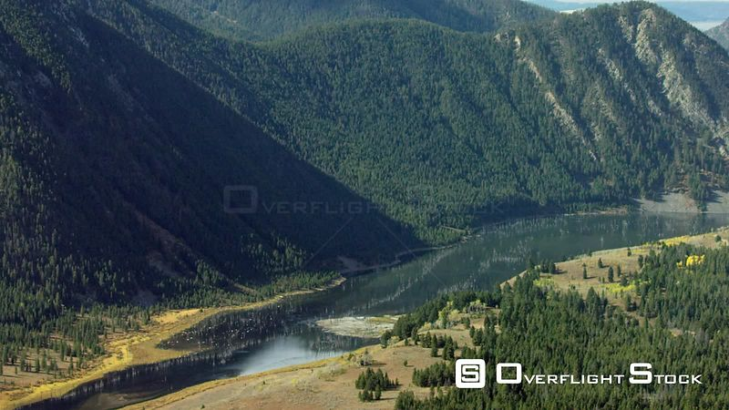 Earthquake Lake sits in a steep valley near Yellowstone National Park
