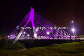 'Grande Partenza',Big Start, Giro d'Italia, Boyne bridge, pink bridge, pink, suspension bridge, M1, cycle race