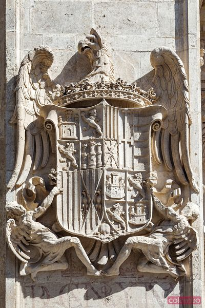 Royal Coat of Arms on the cathedral of Granada, Spain