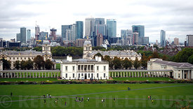 The view from the Royal Observatory Greenwich
