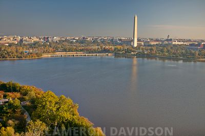 Aerial Washington Monument and Tidal Basin