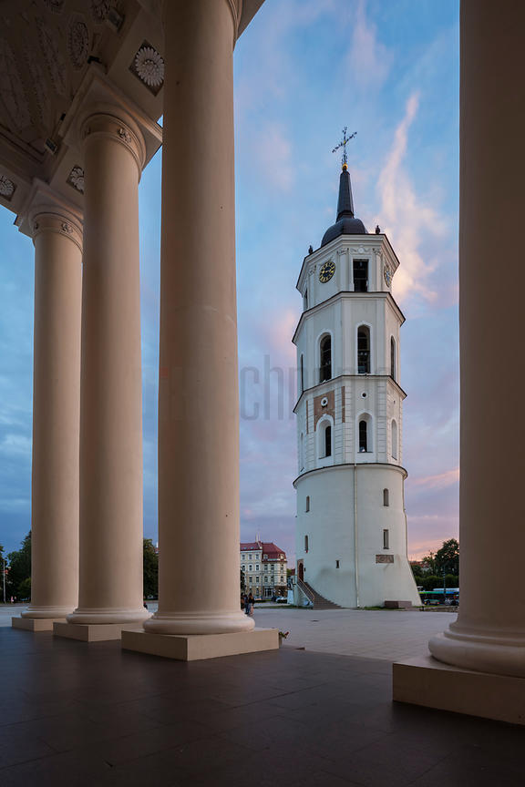 Vilnius Cathedral & Belfry at Dusk