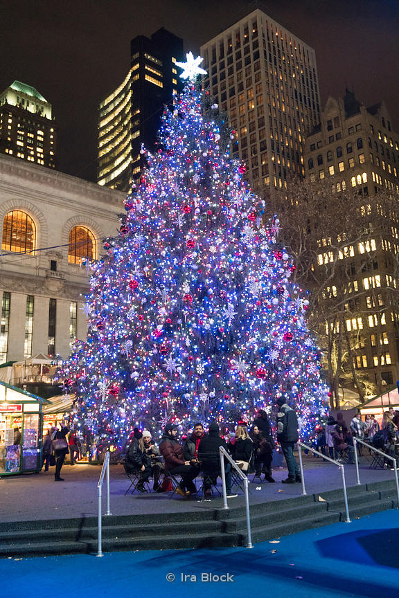 Bryant Park Christmas.Ira Block Photography The Christmas Tree At The Bryant