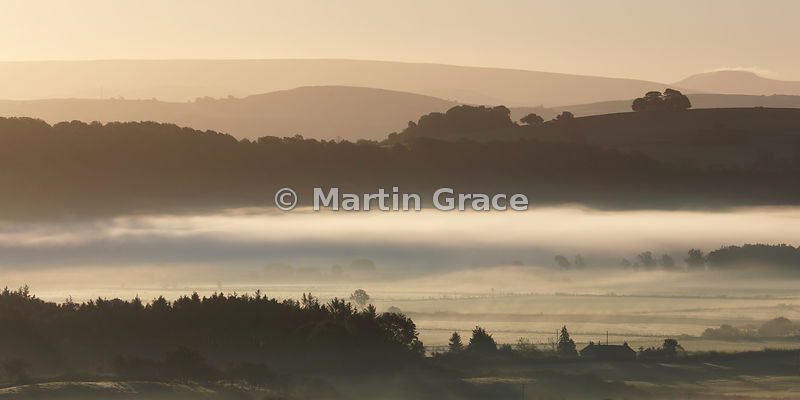 Lyth Valley mist at sunrise, October 2, Cumbria, England
