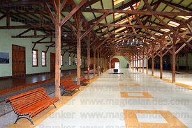 Restored interior of former railway station , Caldera , Region III , Chile