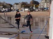 running with the silver ball at St Ives Feast - or maybe not