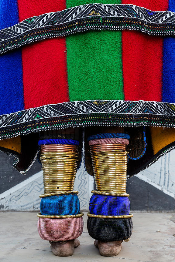 Detail of Ndebele Traditional Dress