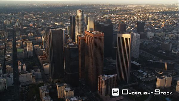 Flying Past Downtown Los Angeles.