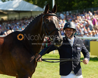 Sam Griffiths retires HAPPY TIMES, showjumpnig phase, Land Rover Burghley Horse Trials 2018