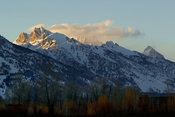 Alpenglow on southern tetons, Jackson Hole, Wyoming