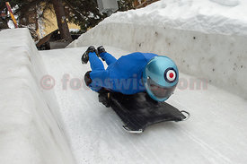 Wing Commander Andy D. Green OBE BA RAF at The Cresta Run in St.Moritz