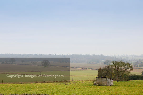 Fields in Lilleshall, Telford & Wrekin, Shropshire, England, UK
