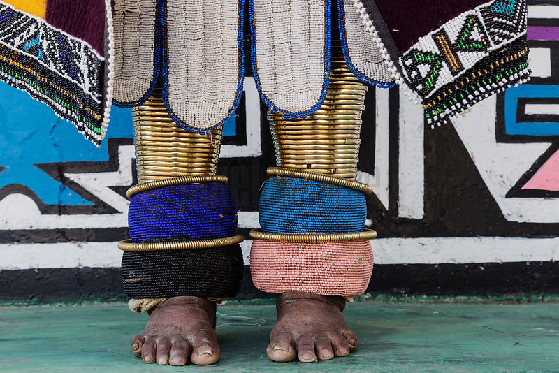 Detail of Beadwork of Ndebele Woman