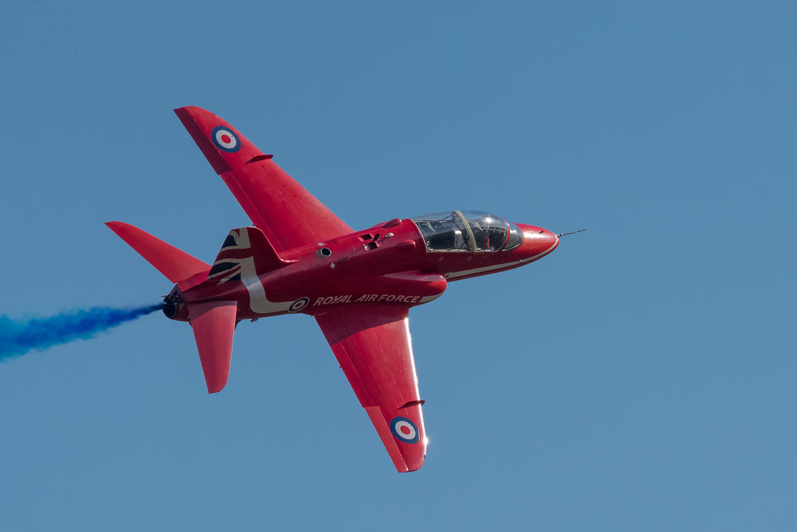Red Arrow Hawk banking turn