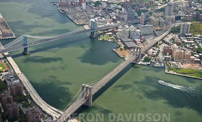 Aerial USA New York City Bridges