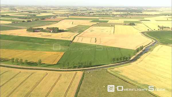 Rural landscape around Diksmuide, Belgium